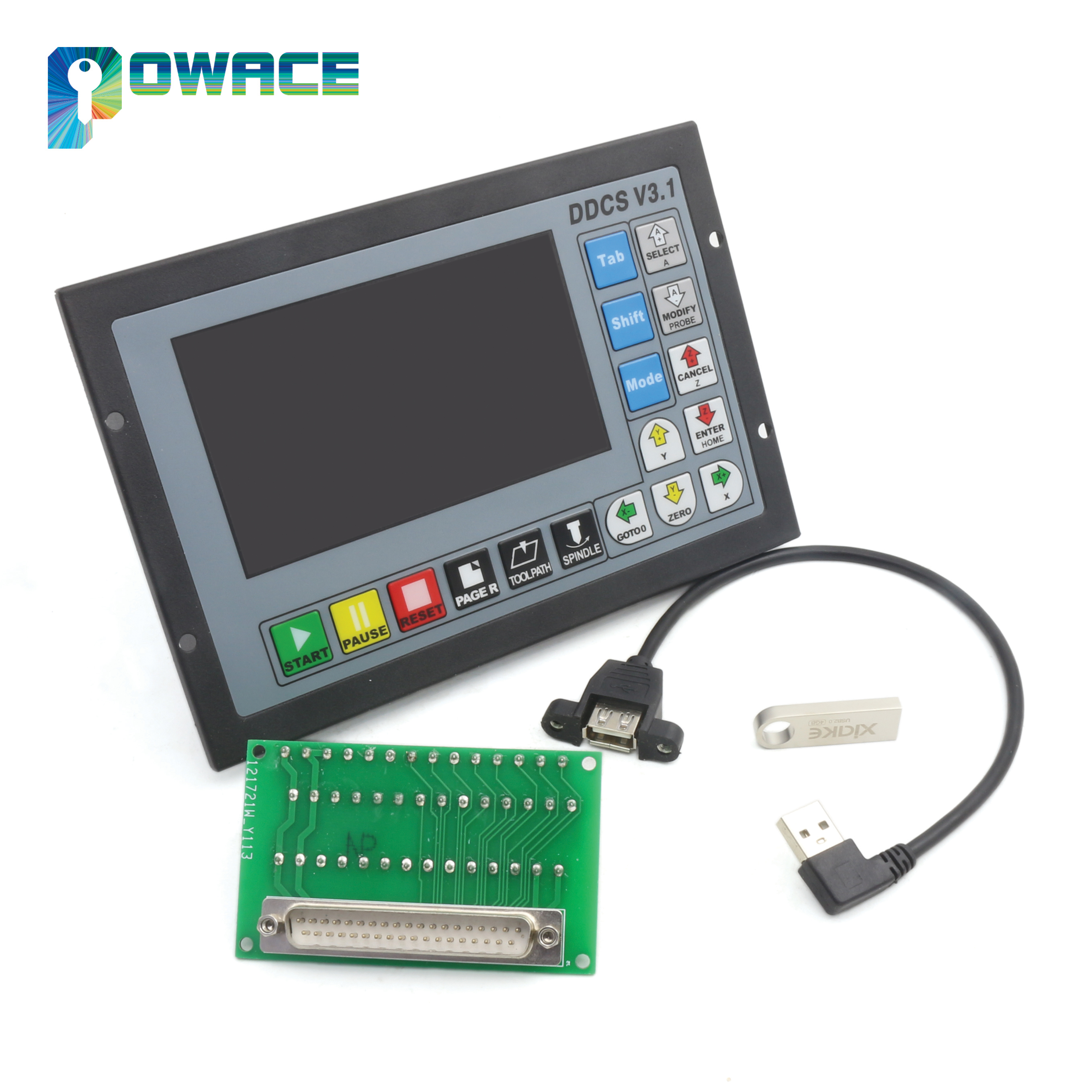 [New Arrival] 3 Axis DDCS V3.1 Standalone Motion Offline CNC Controller 5 inches TFT screen