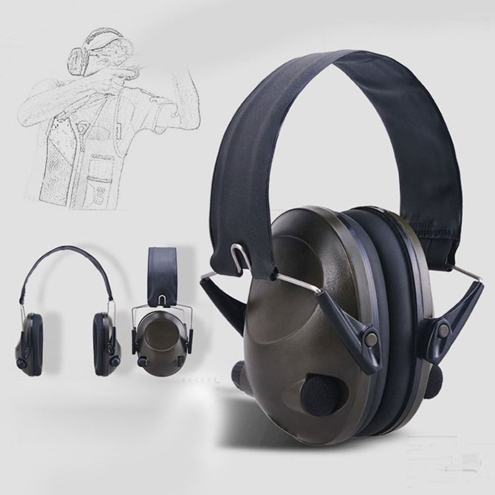 LESHP TAC 6s Noise Canceling Tactical Shooting Headset Anti-noise Sports Hunting Earmuffs Electronic Shooting Headphone Protect