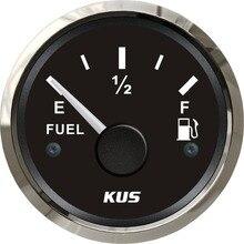 KUS 52 мм датчик уровня топлива измеритель уровня топлива 0-190ohm сигнал для лодочного автомобиля с подсветкой