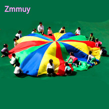 Dia 2/3/4/5/6M Children Games Rainbow Umbrella Educational Outdoor Sports Toys Fun Cloth Parachute Ballute Kindergarten Kids