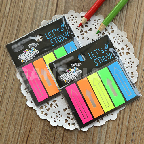 1PC/lot Fashion fluorescence memo pad Arrow style sticky notes School stationery diary memos Office zakka supplies (ss-1294)
