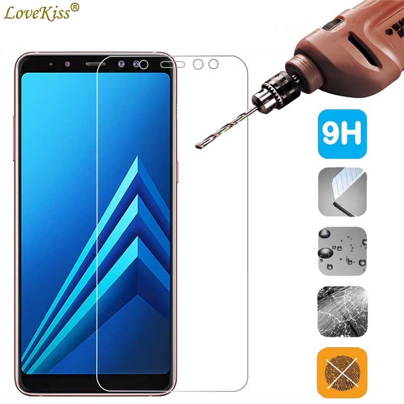 For <font><b>Samsung</b></font> Galaxy A8+ A8Plus <font><b>2018</b></font> A530F <font><b>A730F</b></font> Screen Protector Tempered Glass Film A8 Plus <font><b>2018</b></font> A530 A730 Protective <font><b>Case</b></font> Cover image