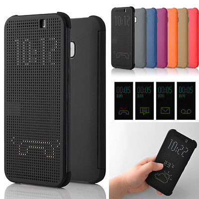 uk availability 7633b 113dd US $3.26 11% OFF|Newest Multifunction Ultra Slim Dot Matrix View Display  Flip Phone Cases Smart Cover For HTC One M9 2015-in Fitted Cases from ...