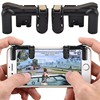 1 Pair PUBG Mobile Game Fire Button Aim Key Smart phone Gaming Trigger L1 R1 Shooter Controller Transparent V4.0 2