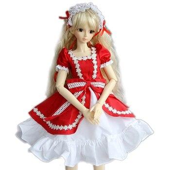 [Wamami] 124 # красное платье/одежда 1/4 MSD детские туфли