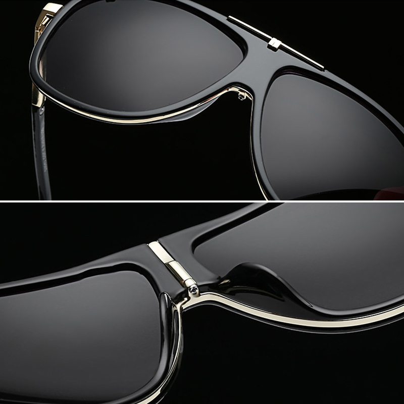 Image 5 - AIVERLIA Sunglass Man Vintage Mens Sunglasses Brand Designer Sunglass Male UV400 Gradient Lens Oculos Masculino Gafas AI41-in Men's Sunglasses from Apparel Accessories