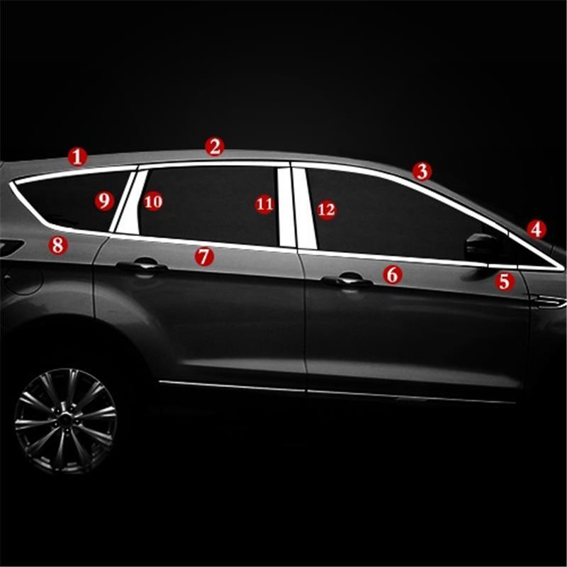 Rear Panels Window Trunk Exterior Durable Chromium Automovil Decoration Protecter Sticker Strip 13 14 15 16