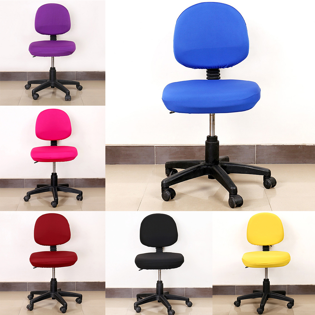 Elastic Spandex Stretch Furniture Covers For Computer Chairs Office