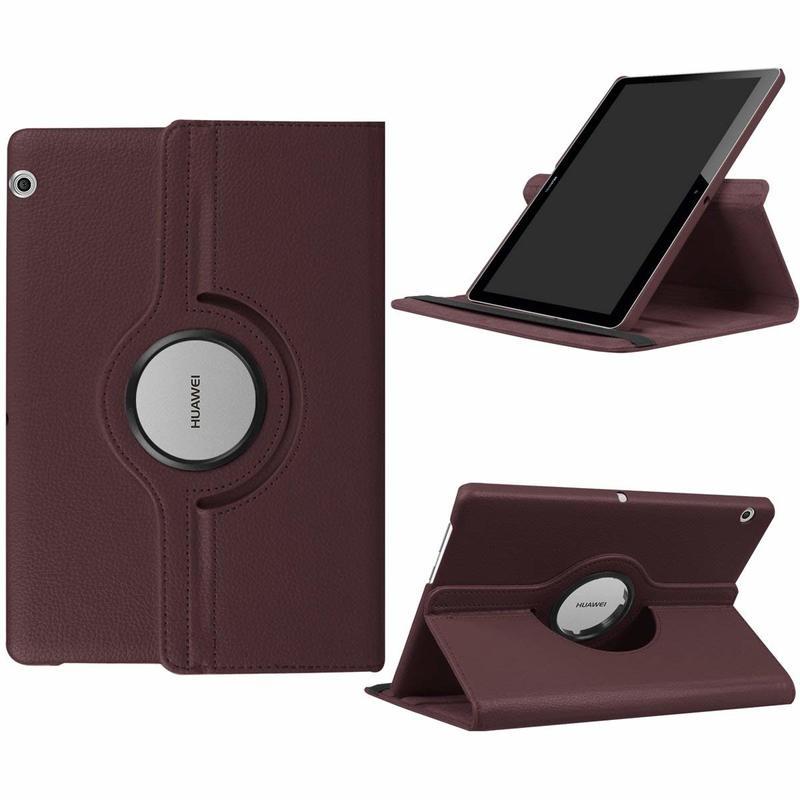Cas de couverture Pour Huawei MediaPad T3 10 AGS-W09 AGS-L09 AGS-L03 9.6 360 rotation PU Tablet case en cuir pour Huawei t3 10 9.6 Verre