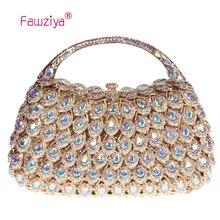 Fawziya Jelly Bag Clutch Purse With Handle Crystal Rhinestone Clutch Evening Bag