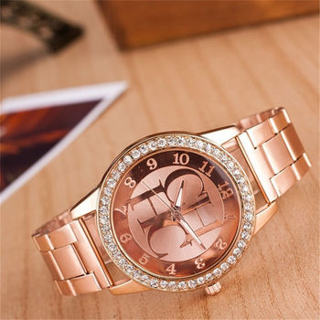 Women Watch New Famous Brand Luxury  Fashion Crystal Dress Quartz Watches stainless steel Wristwatches montres femmes - discount item  30% OFF Women's Watches