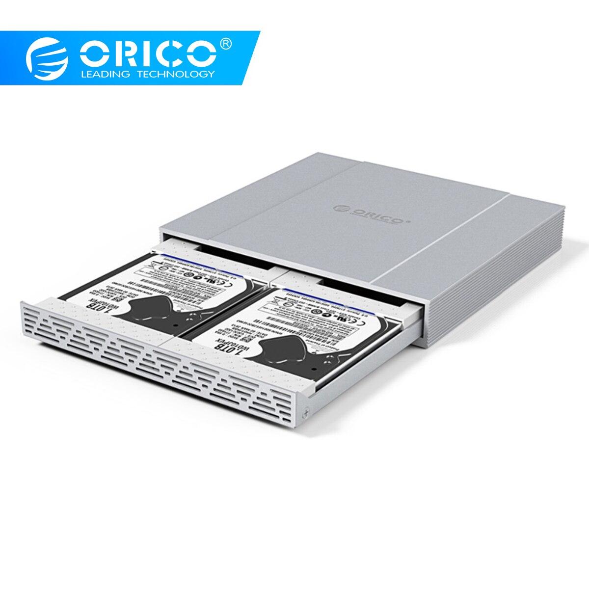 Чехол для жесткого диска ORICO 2*2,5 SATA для USB 3,1, адаптер для жесткого диска 10 Гбит/с, корпус для жесткого диска Raid0 для жесткого диска SSD, чехол для ...