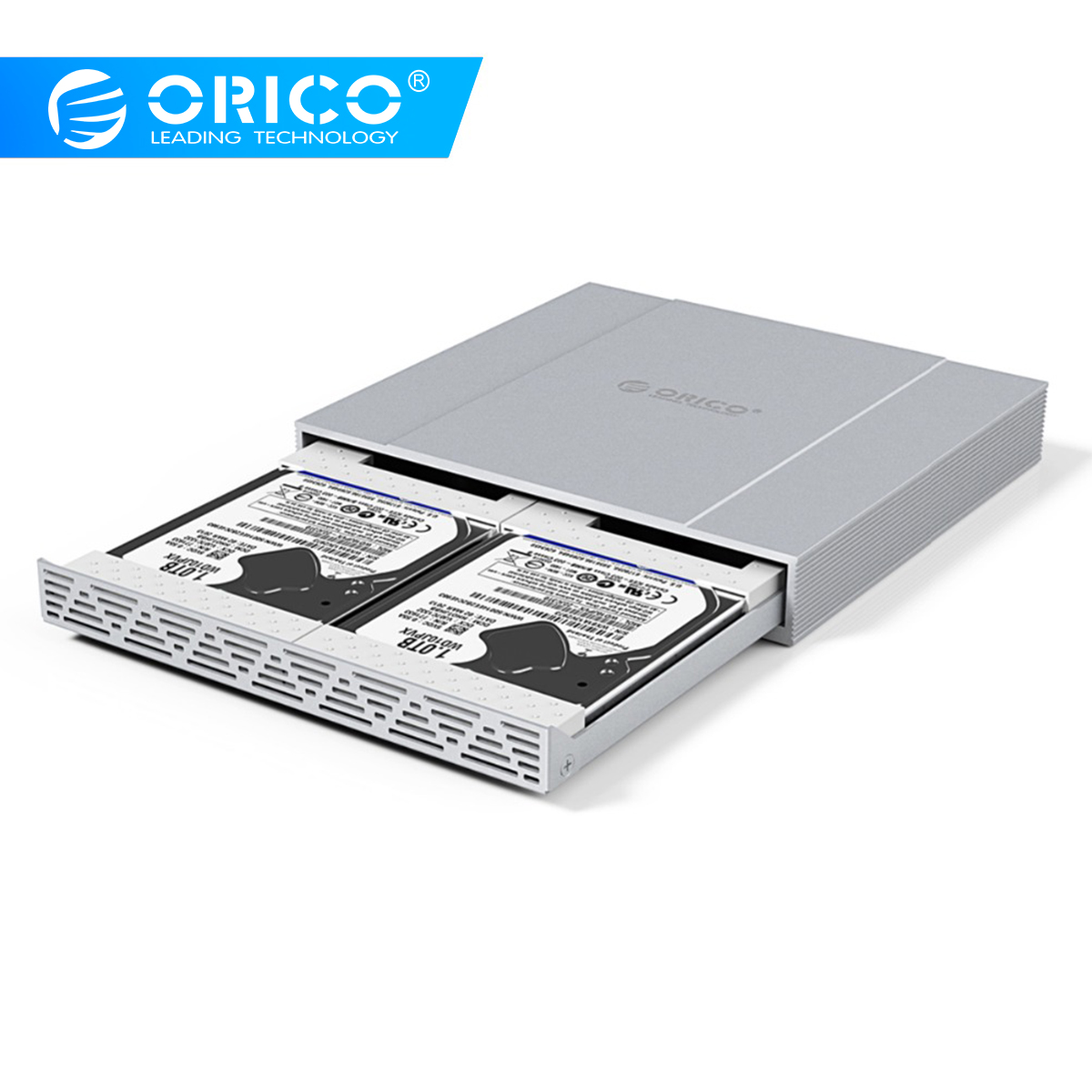 ORICO HDD Case 2*2.5 SATA To USB 3.1 Adapter Hard Drive Enclosure 10Gbps Raid0 HDD Enclosure For SSD Disk HDD Box Type C Case