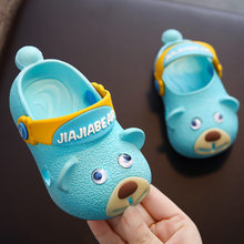 Kids Slippers for Baby Boys Girls Summer Cave Shoes Bag Head Non-slip Soft Bottom Baby Cute Slippers 1-3 Years Girls Beach Shoes(China)