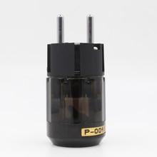 2 יחידות באיכות גבוהה רודיום מצופה P004E Schuko כוח תקע זכר מחבר HIFI