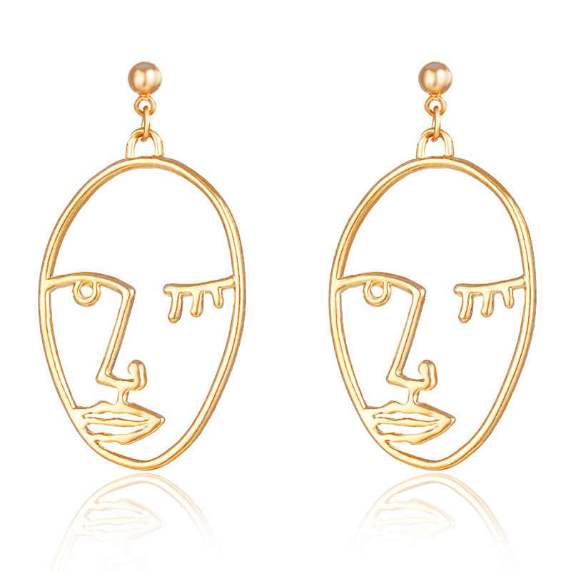 New fashion face head design punk drop earring gift for women girl