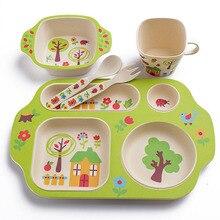 Милые детские миски Нескользящие посуда набор Безопасный детский тренировочный суп ложка диетическая присоска чаша YH-17