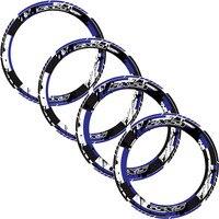 4 X Thick Edge Outer wheel Sticker Stripe Wheel reflective stickers Fit SUZUKI GSX S