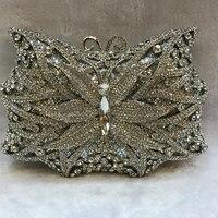 XIYUAN BRAND butterfly Evening Clutch PURSE women full dress crystal day clutchES diamond Wedding Bag Mini Purse handbag totes