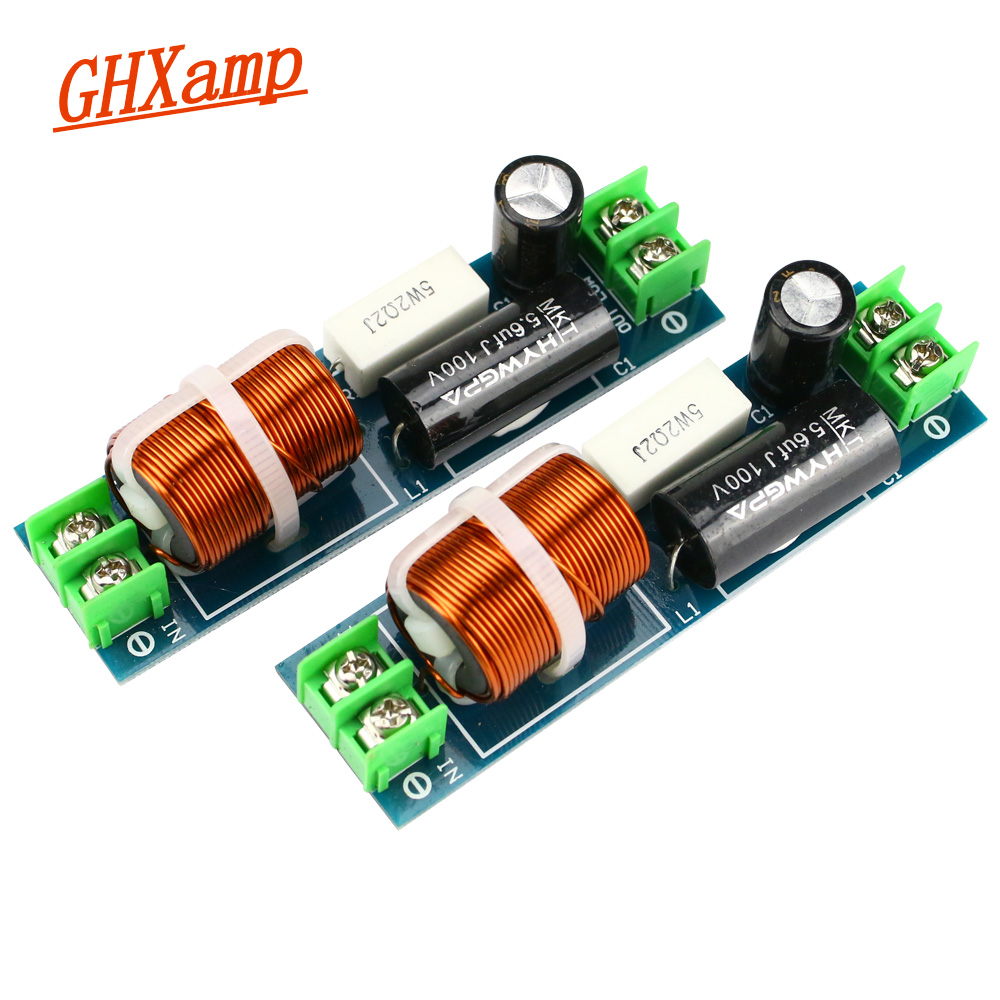 GHXAMP 60-120W Car Midrange Crossover Speaker 1 Way Mediant Mid Frequency Divider For 2-6.5 Inch Speaker Filter 2PCS