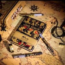 Yiwi One Piece โน๊ตบุ๊คหนังสือปกแข็ง Pirate SAILOR ลิง D Luffy รูปปากกาคาวาอิสำหรับ Traveler Notepad คริสต์มาสของขวัญ