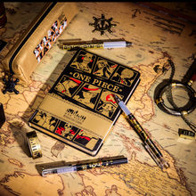 Yiwi Un Pezzo Notebook Copertina Rigida Libro Pirate Sailor Scimmia D Luffy Figura Modello di Penna Kawai Per Il Viaggiatore Notepad Regalo Di Natale