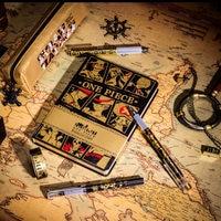 Yiwi um pedaço caderno capa dura livro pirata marinheiro macaco d luffy figura modelo caneta kawai para viajante bloco de notas presente natal|Cadernos| |  -