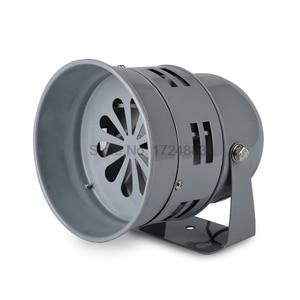 Metalen Mini Motor sirene MS-290 12 V 24 V 220 V Automotive Luchtalarm Hoorn Auto Vrachtwagen Motor Aangedreven alarm kleine motor buzzer(China)