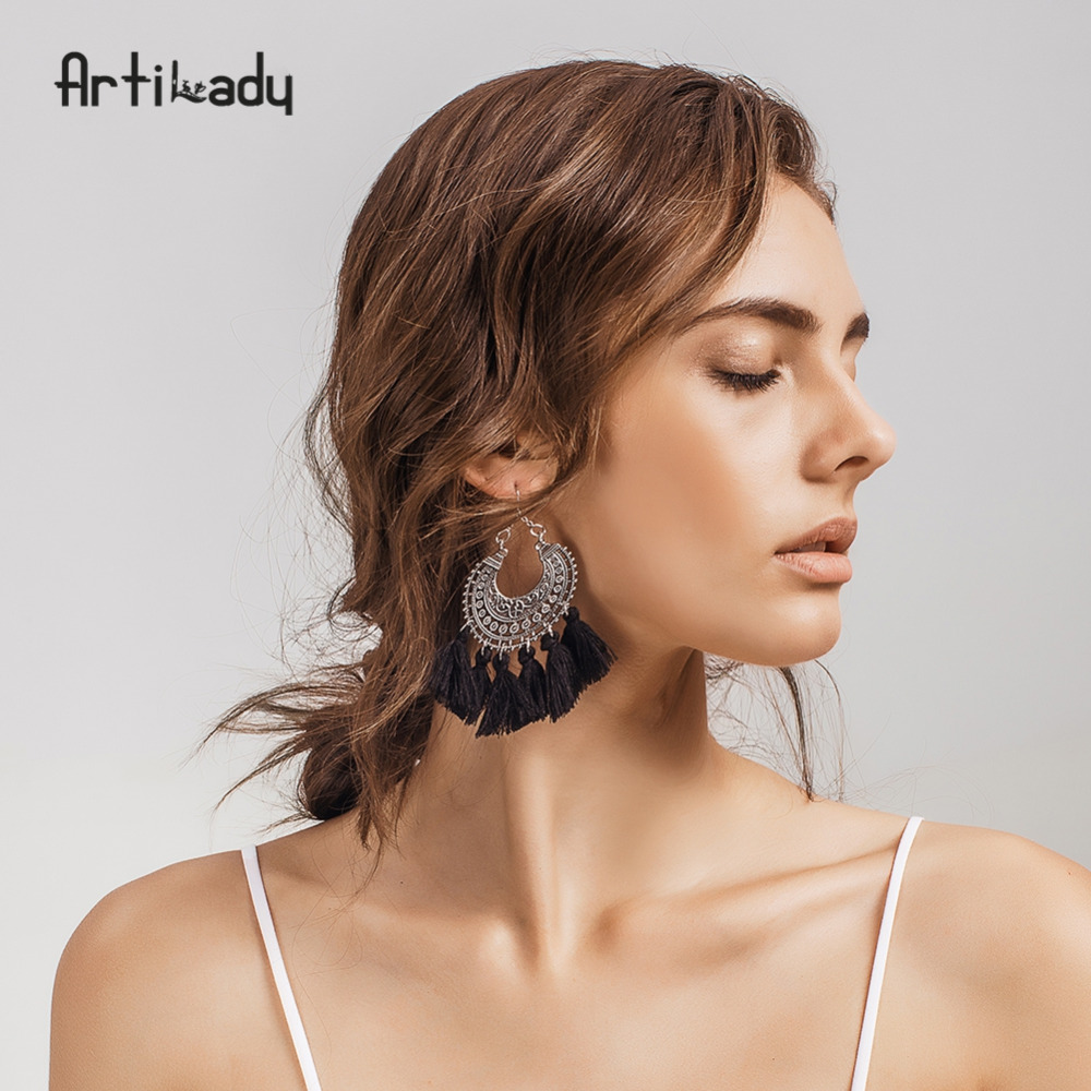 Artilady fashion boho tassel earring vins