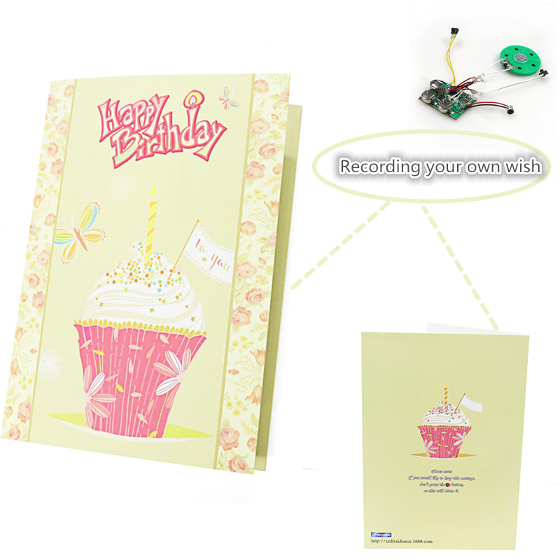 Record Personalised Message Happy Birthday Voice Recording Cards