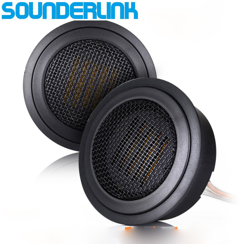 2PCS/LOT SounderLink superb Air motion tweeter AMT ribbon tweeter for car audio speaker DIY replacement hifine hi 520d 28mm tweeter component speaker for car audio system black pair