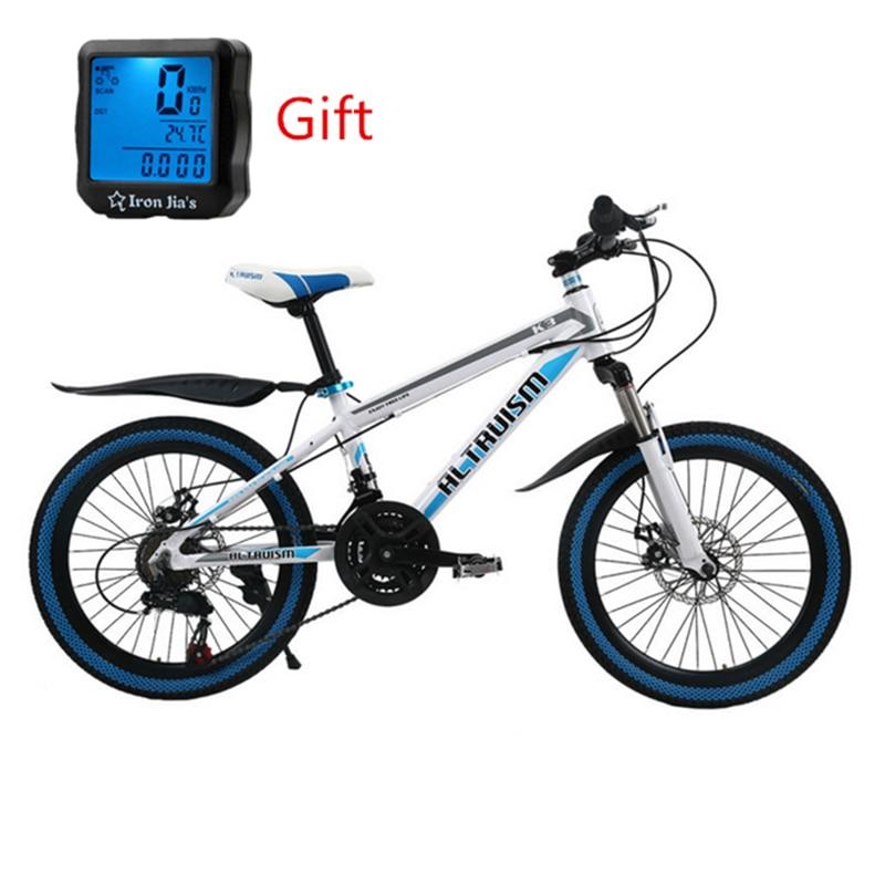 ALTRUISM K3 Aluminum 21 Speed 20Inch Mountain Bike Double Disc Brake Kid's Bicyle Womens Bike Racing Road Bikes Gift speedometer