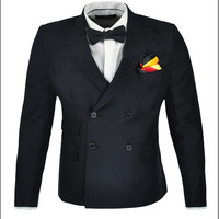 Men S Wear Stripe Double Breasted Suit Is Of Cultivate One S Morality Fashion Business Suit
