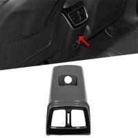 ABS Carbon Fiber  Rear Armrest Air Conditio Outlet Vent Cover Frame Trims For Hyundai Tucson 2015 2019 Car Accessories Car Parts|Chromium Styling| |  -