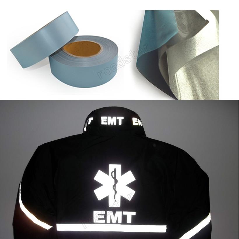 DIY Craft Warning Thermal Transfer Clothing Stickers Reflective Tape Vinyl Film