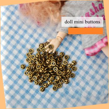 30pcs/lot 3mm blyth doll Accessories DIY doll clothes Handmade mini buttons for 1/6 BJD Blyth Doll Clothes Accessories