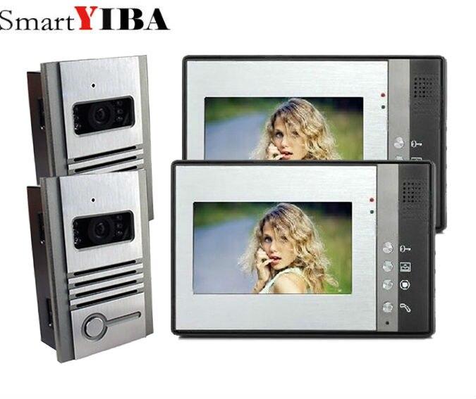 SmartYIBA 7 Video Door Intercom Doorbell Phone Wired Visual Video Intercom Speakerphone System Home Audio intercom