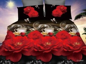 BEST. WENSD западный стиль домашний текстиль свадебный подарок бамбуковое волокно двуспальные постельные принадлежности пододеяльник + плоска...