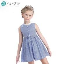 summer Girls dress Cotton  fashion High-grade linen evening dress children's clothing kids birthday present