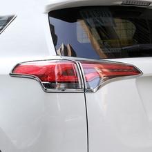لتويوتا rav4 2016 2017 اكسسوارات السيارات التصميم الخارجي الذيل الخلفي ضوء مصباح الغلاف تريم 4 قطع