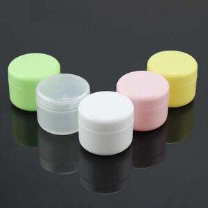 Image 4 - 10PCS Refillable Bottles Plastic Empty Makeup Jar Pot Travel Face Cream/Lotion/Cosmetic Container 5 Colors