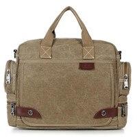 Vintage Crossbody Bag Military Canvas Shoulder Bags Men Messenger Bag Men Casual Handbag Tote Business Briefcase