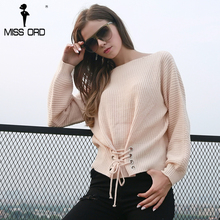 Missord осень 2017 г. и зимние модные однотонные Цвет круглый Средства ухода за кожей шеи с длинным рукавом углы свитер FT8547