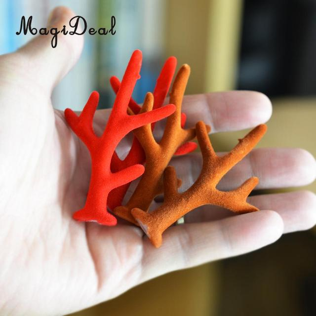 8 Pieces Christmas Tree Decors Card Making Embellishments Reindeer Antlers Gifts Kids Hair Accessory Hair Band Making