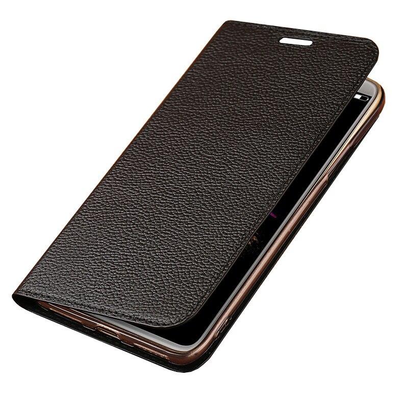 Ultra-mince de luxe flip téléphone étui pour huawei P20 pro tous fabriqués à la main litchi texture mobile coque de téléphone