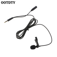 OOTDTY Lavalier Clip-On Lapel Hands-Free Microphone Mic For PC Laptop Tablet Cell Phone universal microphone with clip for laptop pc 3 5mm jack