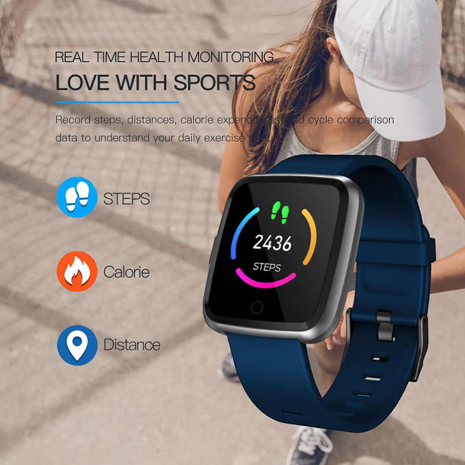 Viscoso Y7 Inteligente Homens Relógio À Prova D' Água de Oxigênio No Sangue Pressão Dinâmica de Fitness Pedômetro Freqüência Cardíaca Rastreador Smartwatch PK Q3 Q8 F17