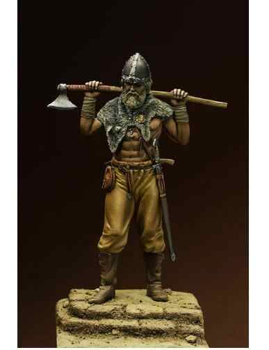 1/24 75MM ancient warrior with axe 75 mm    Resin figure Model kits Miniature gk Unassembly Unpainted
