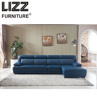 Luxury Furniture Set Genuine Leather Sofas For Living Room Modern Sofa Loveseat Chair Chesterfield LZ8002