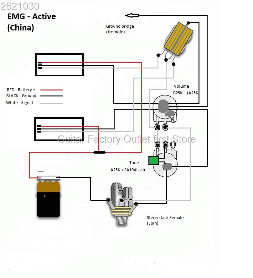 emg 81 85 pickups wiring diagram